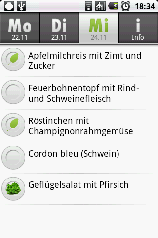 Screenshot Meallist